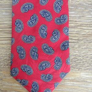 BERT PULITZER Neck Tie Mens Silk Classic Paisley